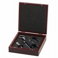 Rosewood 3-Piece Wine Tool Set Rosewood 7.75 x 6 5/8 x 2 Inch