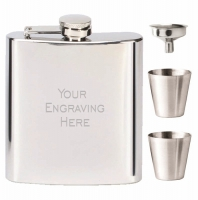 Vision Mirror Polish 6oz Flask Stainless Steel 6oz