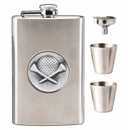 Vision Golf 8oz Flask Stainless Steel 8oz