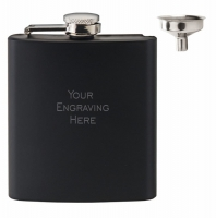 Vision Matt Black 6oz Flask Black 6oz