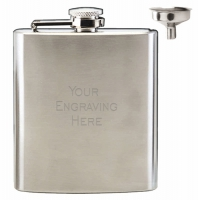 Vision Satin Polish 6oz Flask Satin Stainless Steel 6oz