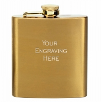 Vision Flask Satin Brass 6oz : New 2019