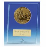 Vision Darts Glass Award Plaque 4.25 Inch (10.5cm) : New 2020