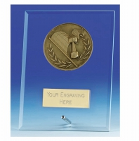 Vision Motorsport Glass Award Plaque 6 Inch (15cm) : New 2020