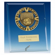 Varsity Football Glass Award Plaque 7 Inch (17.5cm) : New 2020