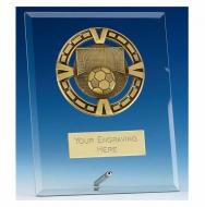 Varsity Football Glass Award Plaque 9 Inch (23cm) : New 2020