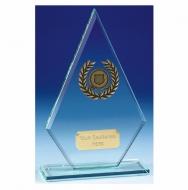 Pointer8 Jade Glass Trophy Jade/Gold 8.75 Inch