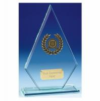Pointer10 Jade Glass Trophy Jade/Gold 10 Inch
