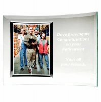 Encore Curve Picture Frame Jade 7 x 10 Inch