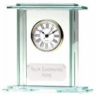 Eternity5 Jade Clock Jade 5.75 Inch