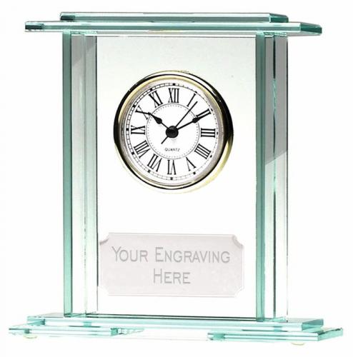 Eternity6 Jade Clock Jade 6.25 Inch