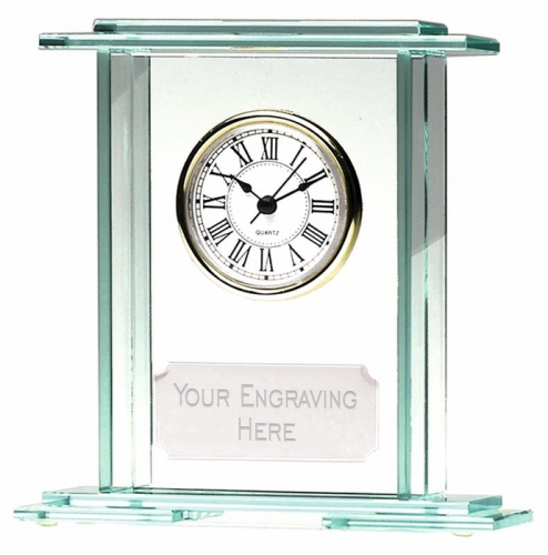 Eternity7 Jade Clock Jade 7 Inch