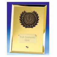 Crest5 Mirror Gold Plaque Gold 5 Inch