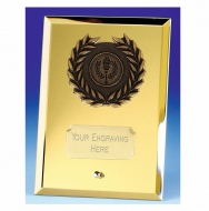 Crest6 Mirror Gold Plaque Gold 6 Inch