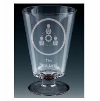 Windmill Glass Goblet