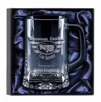 Trojan Glass Tankard Gift Set