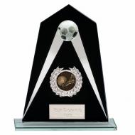 Eagle Jade Glass Football Trophy Small