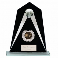 Eagle Jade Glass Football Trophy Medium