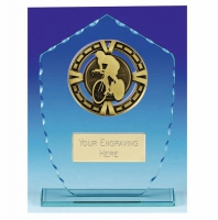 Varsity Cycling Glass Award Trophy 7 1/8 Inch (18cm) : New 2020