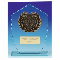 Explorer Jade Glass Trophy - Clear/Gold - 7 1/8 inch (18cm) - New 2018
