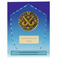 Varsity Hockey Glass Award Trophy 7 7/8 Inch (20cm) : New 2020