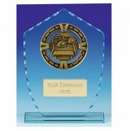 Varsity Swimming Glass Award Plaque 7 7/8 Inch (20cm) : New 2020