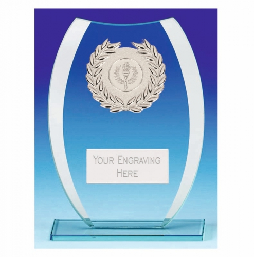 Compass Glass Trophy - Clear/Silver - 7.25 inch (18.5cm) - New 2018
