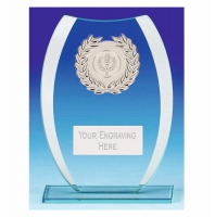 Compass Glass Trophy - Clear/Silver - 8 1/8 inch (20.5cm) - New 2018