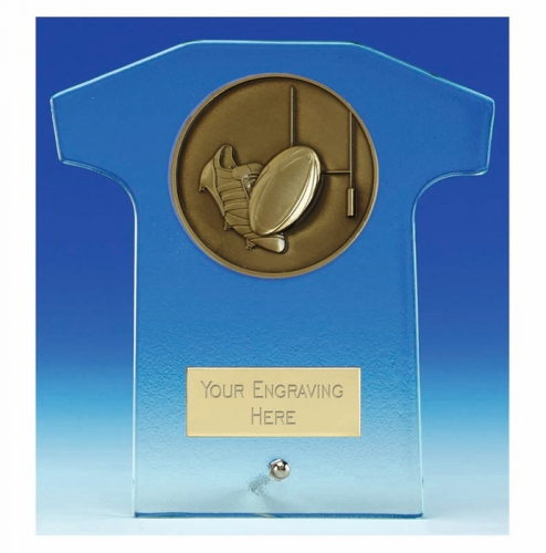 Elite Shirt Glass Award Rugby 5.75 Inch (14.5cm) : New 2020