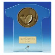 Elite Shirt Glass Award Rugby 6.5 Inch (16.5cm) : New 2020