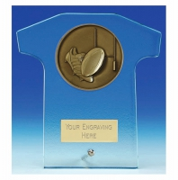 Elite Shirt Glass Award Rugby 6.5 Inch (16.5cm) : New 2020