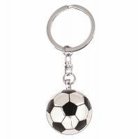 Crown-Football Key Ring Silver/Black 30mm
