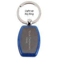 Light Keyring Blue 1.75 x 1.25 Inch