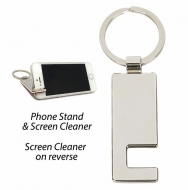 Phone Stand and screen cleaner Silver