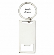 Rectangle Bottle Opener Keyring 2 3 16 x 1 1 8 Inch (56x28mm) : New 2019