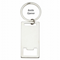 Rectangle Bottle Opener Keyring 2 3 16 x 1 1 8 Inch (56x28mm) : New 2019