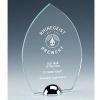 Gravity Peak Jade Glass Award 7 1/8 Inch (18cm) : New 2020