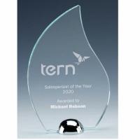 Gravity Torch Jade Glass Award 6.75 Inch (17cm) : New 2020