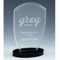 Oval Arch Jade Glass Award 8.5 Inch (21.5cm) : New 2020