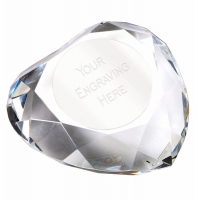 Heart95 Faceted Paperweight 3.75 Inch (9.5cm) Diameter : New 2019