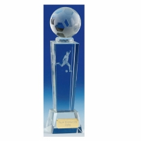 Unite 9 Football Trophy Crystal Optical Crystal 9 3/8 Inch