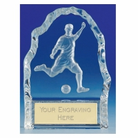 Echo4 Footballer Wedge Optical Crystal 4.25 Inch