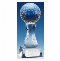 Ace4 Golf Trophy Optical Crystal 4 7/8 Inch