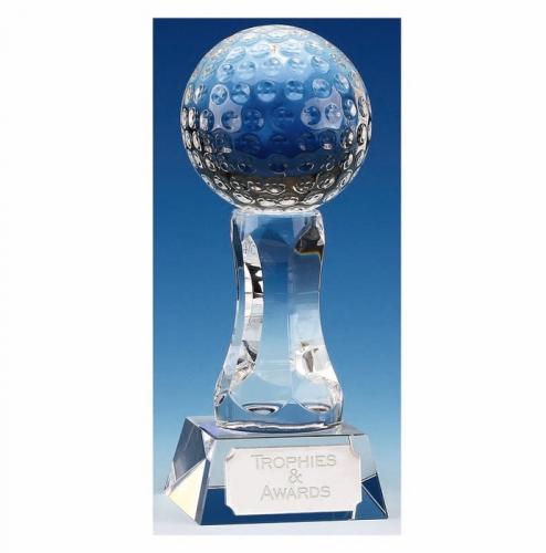 Ace4 Golf Trophy Optical Crystal 4 7/8 Inch