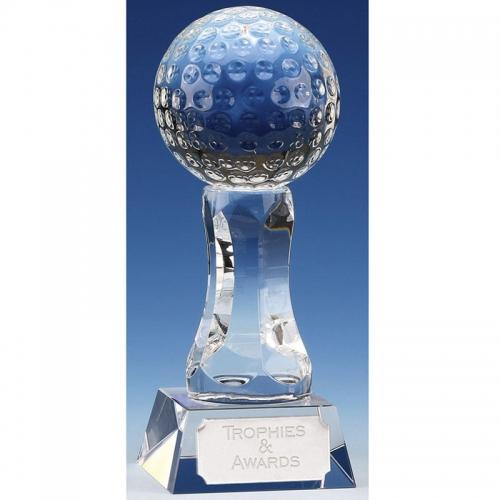 Ace6 Golf Trophy Optical Crystal 6 Inch