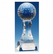 Ace7 Golf Trophy Optical Crystal 7 1/8 Inch