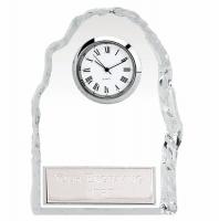 Iceberg4 Glass Award Clock with Plate 4.5 Inch (11.5cm) : New 2020