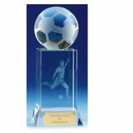 Mercury6 Football Optical Crystal 6 Inch