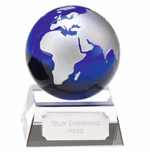 Aqua Mini Globe Optical/Blue 3.5 Inch