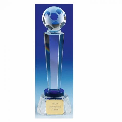 Agilty Football L Opt Crystal Optical/Blue 11 5/8 Inch
